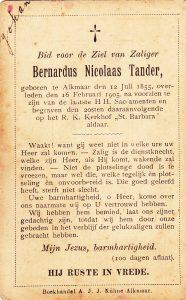 tander bernardus Nicolaas 1855-1905 bk
