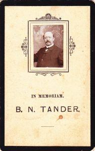 tander bernardus Nicolaas 1855-1905 vk